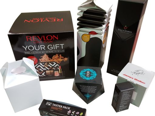 Different styles of cartons we have diecut and glued.