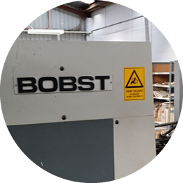 SEE OUR BIG BOBST DIECUTTER